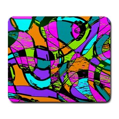 Abstract Art Squiggly Loops Multicolored Large Mousepads by EDDArt