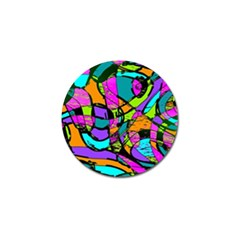 Abstract Art Squiggly Loops Multicolored Golf Ball Marker (10 Pack) by EDDArt