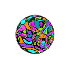 Abstract Art Squiggly Loops Multicolored Hat Clip Ball Marker (4 Pack) by EDDArt