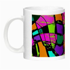 Abstract Art Squiggly Loops Multicolored Night Luminous Mugs by EDDArt