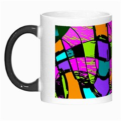 Abstract Art Squiggly Loops Multicolored Morph Mugs by EDDArt