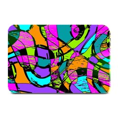 Abstract Art Squiggly Loops Multicolored Plate Mats by EDDArt