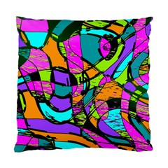 Abstract Art Squiggly Loops Multicolored Standard Cushion Case (one Side) by EDDArt