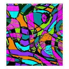Abstract Art Squiggly Loops Multicolored Shower Curtain 66  X 72  (large)  by EDDArt