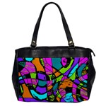 Abstract Art Squiggly Loops Multicolored Office Handbags Front