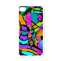 Abstract Art Squiggly Loops Multicolored Apple Iphone 4 Case (white) by EDDArt