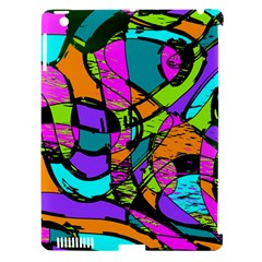 Abstract Art Squiggly Loops Multicolored Apple Ipad 3/4 Hardshell Case (compatible With Smart Cover) by EDDArt