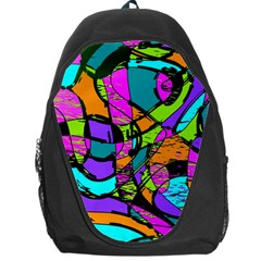 Abstract Art Squiggly Loops Multicolored Backpack Bag by EDDArt