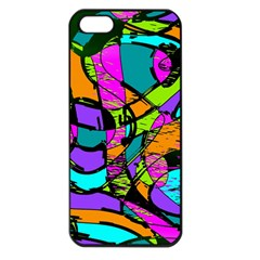 Abstract Art Squiggly Loops Multicolored Apple Iphone 5 Seamless Case (black) by EDDArt