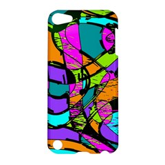 Abstract Art Squiggly Loops Multicolored Apple Ipod Touch 5 Hardshell Case by EDDArt