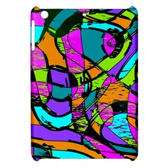 Abstract Art Squiggly Loops Multicolored Apple Ipad Mini Hardshell Case by EDDArt