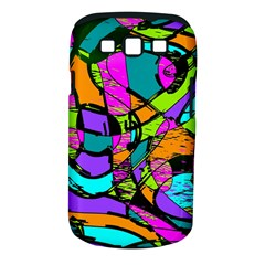 Abstract Art Squiggly Loops Multicolored Samsung Galaxy S Iii Classic Hardshell Case (pc+silicone) by EDDArt