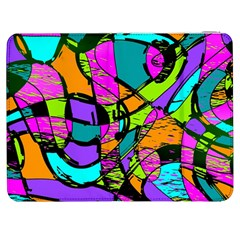 Abstract Art Squiggly Loops Multicolored Samsung Galaxy Tab 7  P1000 Flip Case by EDDArt