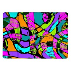Abstract Art Squiggly Loops Multicolored Samsung Galaxy Tab 10 1  P7500 Flip Case by EDDArt