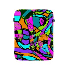 Abstract Art Squiggly Loops Multicolored Apple Ipad 2/3/4 Protective Soft Cases by EDDArt