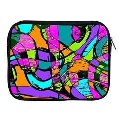 Abstract Art Squiggly Loops Multicolored Apple Ipad 2/3/4 Zipper Cases by EDDArt