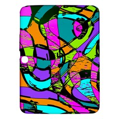 Abstract Art Squiggly Loops Multicolored Samsung Galaxy Tab 3 (10 1 ) P5200 Hardshell Case  by EDDArt