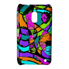 Abstract Art Squiggly Loops Multicolored Nokia Lumia 620 by EDDArt