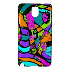 Abstract Art Squiggly Loops Multicolored Samsung Galaxy Note 3 N9005 Hardshell Case by EDDArt