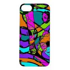 Abstract Art Squiggly Loops Multicolored Apple Iphone 5s/ Se Hardshell Case by EDDArt