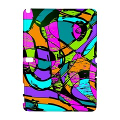 Abstract Art Squiggly Loops Multicolored Galaxy Note 1 by EDDArt