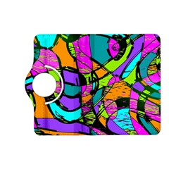 Abstract Art Squiggly Loops Multicolored Kindle Fire Hd (2013) Flip 360 Case by EDDArt