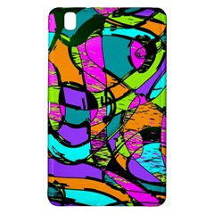 Abstract Art Squiggly Loops Multicolored Samsung Galaxy Tab Pro 8 4 Hardshell Case by EDDArt