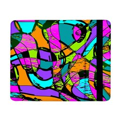 Abstract Art Squiggly Loops Multicolored Samsung Galaxy Tab Pro 8 4  Flip Case by EDDArt