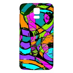 Abstract Art Squiggly Loops Multicolored Samsung Galaxy S5 Back Case (white) by EDDArt