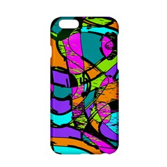 Abstract Art Squiggly Loops Multicolored Apple Iphone 6/6s Hardshell Case by EDDArt