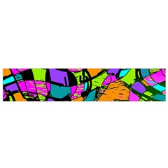 Abstract Art Squiggly Loops Multicolored Flano Scarf (small) by EDDArt