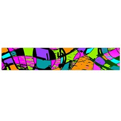 Abstract Art Squiggly Loops Multicolored Flano Scarf (large) by EDDArt