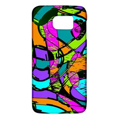 Abstract Art Squiggly Loops Multicolored Galaxy S6 by EDDArt