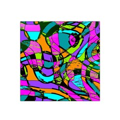 Abstract Art Squiggly Loops Multicolored Satin Bandana Scarf by EDDArt