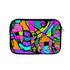 Abstract Art Squiggly Loops Multicolored Apple Macbook Pro 15  Zipper Case by EDDArt