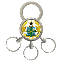 National Seal Of Ghana 3 Ring Key Chains by abbeyz71