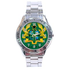 National Seal Of Ghana Stainless Steel Analogue Watch by abbeyz71