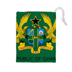 National Seal Of Ghana Drawstring Pouches (large)  by abbeyz71
