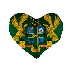 National Seal Of Ghana Standard 16  Premium Flano Heart Shape Cushions by abbeyz71