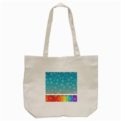 Rainbow Background Border Colorful Tote Bag (cream) by Amaryn4rt