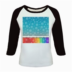 Rainbow Background Border Colorful Kids Baseball Jerseys