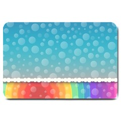 Rainbow Background Border Colorful Large Doormat  by Amaryn4rt