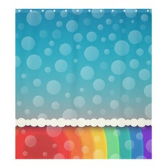 Rainbow Background Border Colorful Shower Curtain 66  X 72  (large)  by Amaryn4rt