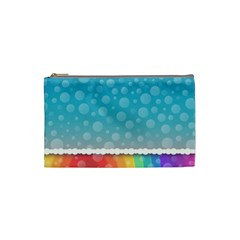 Rainbow Background Border Colorful Cosmetic Bag (small)  by Amaryn4rt