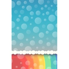 Rainbow Background Border Colorful 5 5  X 8 5  Notebooks by Amaryn4rt