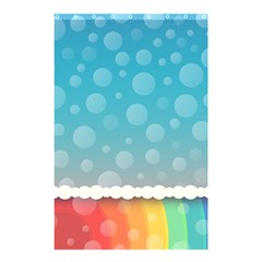 Rainbow Background Border Colorful Shower Curtain 48  X 72  (small)  by Amaryn4rt