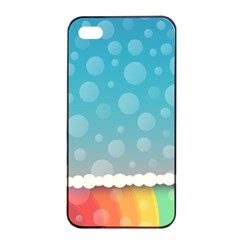Rainbow Background Border Colorful Apple Iphone 4/4s Seamless Case (black) by Amaryn4rt