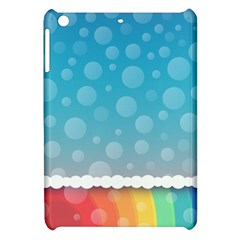 Rainbow Background Border Colorful Apple Ipad Mini Hardshell Case by Amaryn4rt
