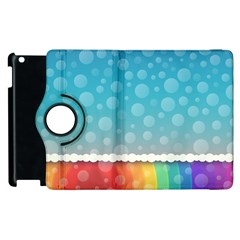 Rainbow Background Border Colorful Apple Ipad 3/4 Flip 360 Case by Amaryn4rt
