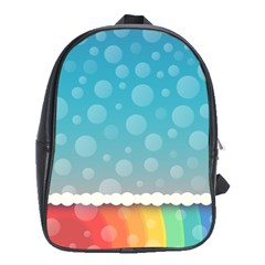Rainbow Background Border Colorful School Bags (xl)  by Amaryn4rt